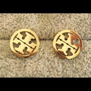 Gold Tory Burch stud earrings